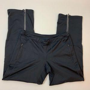 Athleta Yoga Pants Zip Size MP Petite Gray Pockets